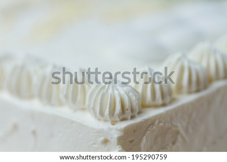 Wedding cake  close up - stock photo