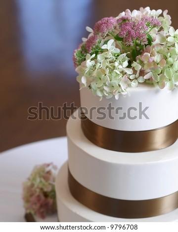 Wedding Cake Closeup - stock photo
