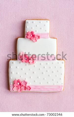 Wedding cake cookie - stock photo