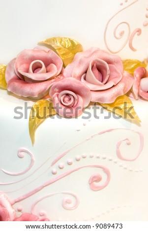 Wedding cake decoration - stock photo