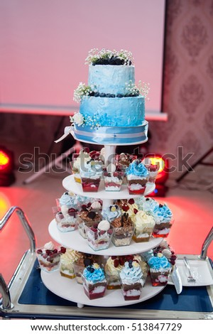 Wedding Cake stand with cupcakes