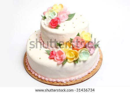 Wedding cake with color flore