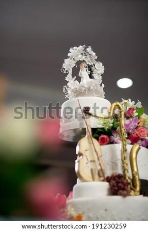Wedding Cake with space - stock photo