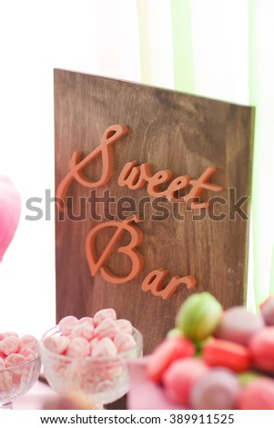 wedding candy bar, sweets, treats