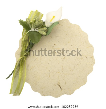 wedding card - stock photo