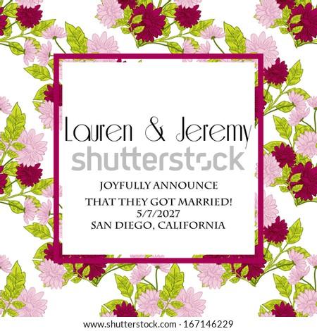 Wedding Gift Card Inscriptions : Wedding card - stock photo