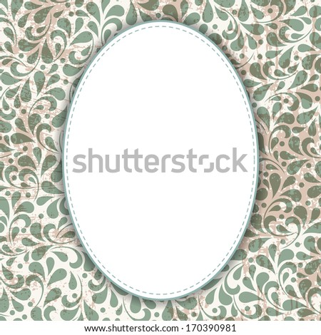 Wedding card or invitation with abstract floral ornament background. Perfect as invitation or announcement. For vector version, see my portfolio. - stock photo