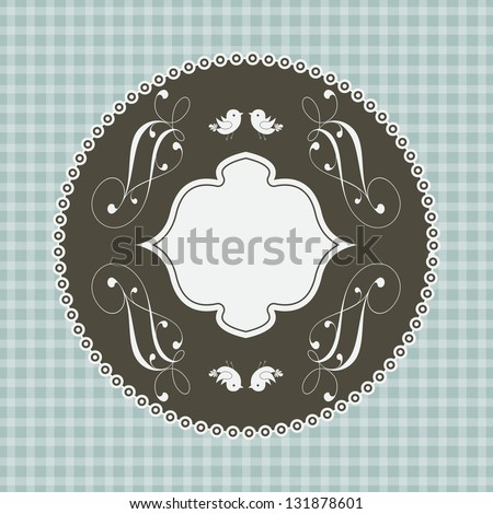 Wedding card or invitation with floral ornament background. Perfect as invitation or announcement. For vector version, see my portfolio. - stock photo