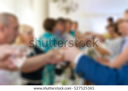 Wedding ceremony and reception theme creative abstract blur background with bokeh effect