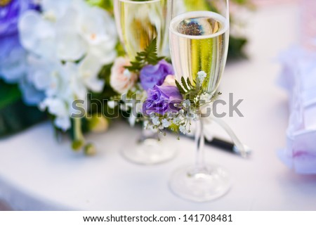 wedding ceremony in outside - stock photo