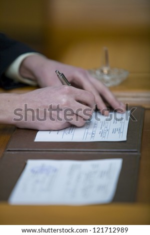 Wedding Ceremony on the contract signature