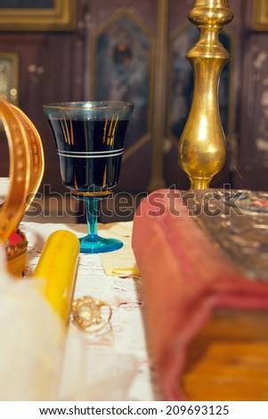 Wedding ceremony. Orthodox wedding - stock photo
