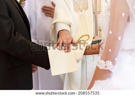 Wedding ceremony./ Wedding ceremony. - stock photo