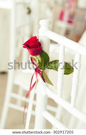 wedding chair for fine dining  - stock photo