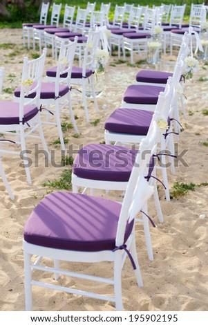 Wedding chair in the wedding ceremony  - stock photo