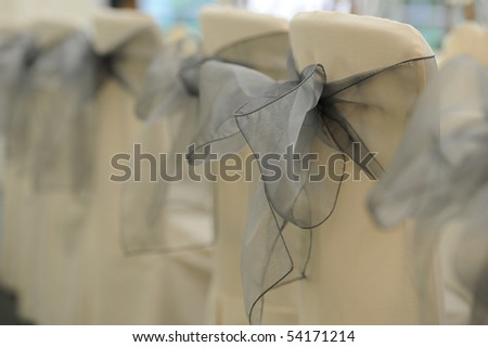 Wedding Chairs - stock photo