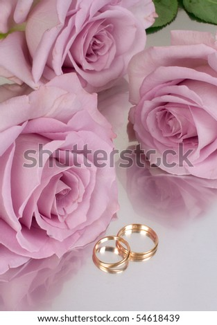 Wedding composition with roses