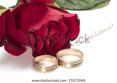 wedding congratulations - stock photo