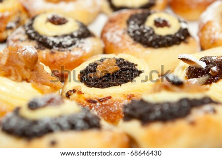 Wedding cookies - traditional czech kitchen - stock photo