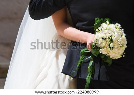 Wedding couple. - stock photo