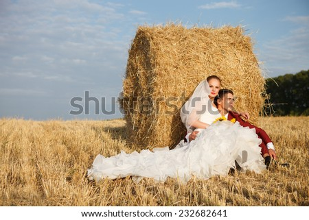 Wedding couple - bride and groom - stock photo