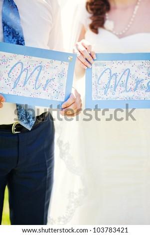 Wedding couple - new family concept - stock photo