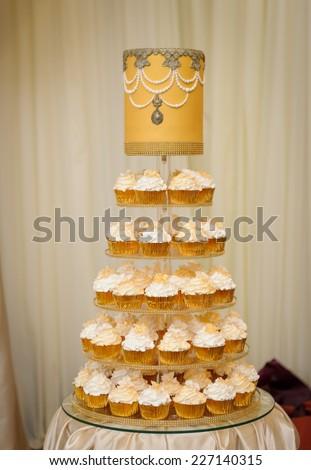 Wedding cup cake - stock photo