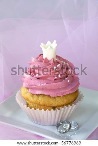 Wedding cupcake - stock photo