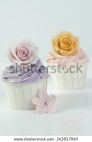 Wedding cupcakes - stock photo