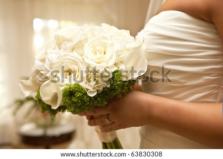 Wedding Day Bouquet - stock photo