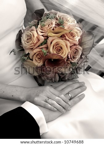 wedding day - Bride and groom - stock photo