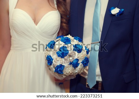 Wedding day. Groom and bride - stock photo