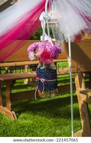 wedding decor flowers - stock photo