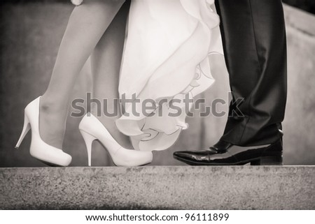 Wedding details - stock photo
