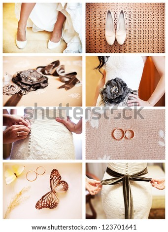 wedding details collage