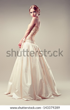 wedding Dress - stock photo