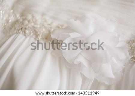 wedding dress background - stock photo