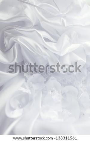 Wedding dress close-up - stock photo