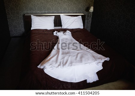 Wedding Dress Hotel Room