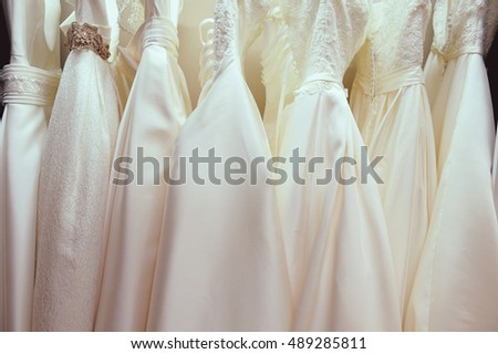 wedding dress shop.