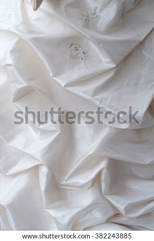 Wedding dress with a flower