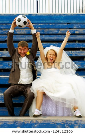 Wedding emotions - stock photo
