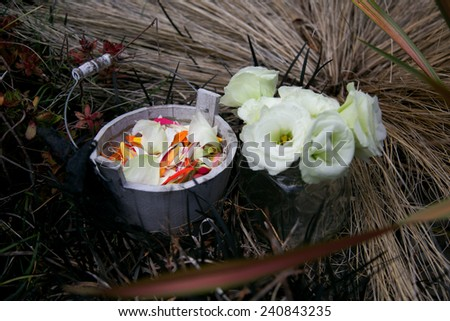 Wedding flowers. - stock photo