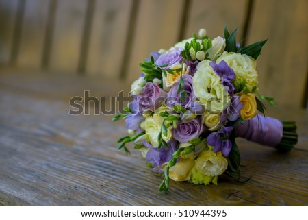 Wedding flowers bouquet.
