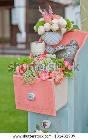 Wedding flowers decor - stock photo