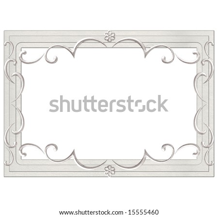 wedding frame for photo - stock photo