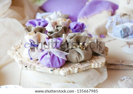 wedding gift for guests - stock photo