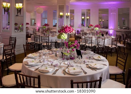 Wedding guest tables - stock photo