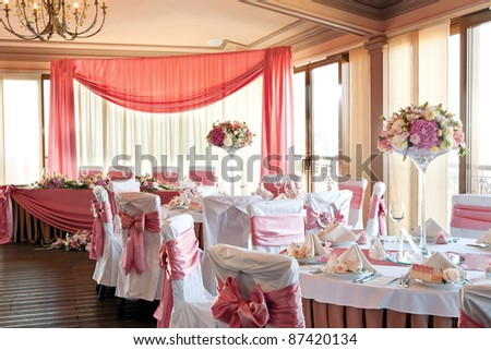 wedding hall - stock photo