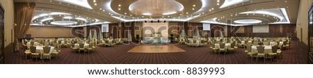 Wedding Hall Panorama - stock photo